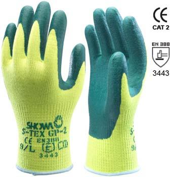 Handschuhe aus Polyester und Hagane coil und Nitrilbeschichtigung Mod. S-TEX GP-2